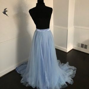 Ice Blue Tulle Skirt Separate